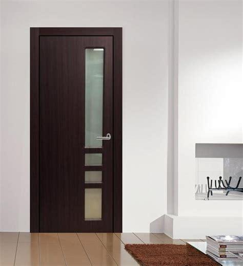 verona contemporary interior door mahogany finish