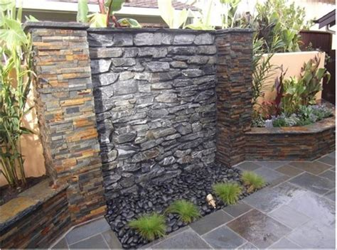 how to build a water fall wall outdoor small house plans