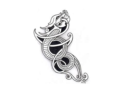 norse dragon tattoo designs 23 unique viking designs