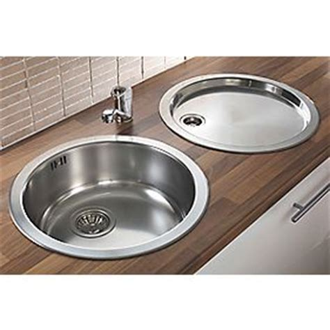 round kitchen sinks stainless steel pyramis stainless steel reversible round bowl kitchen sink