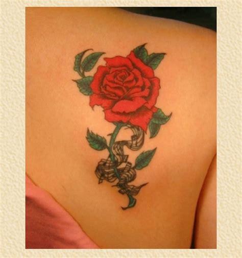 tattoo rose shoulder blade rose on back shoulder wing bone scapula tattoo