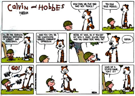seven military leadership lessons from calvin and hobbes