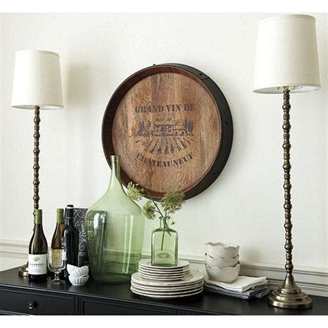 wine barrel brown plaque