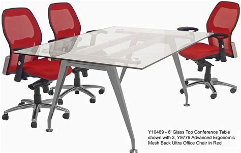 glass top conference tables free shipping