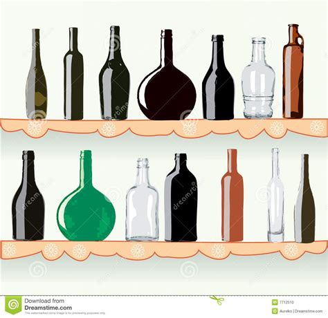 What Is The Shelf Of Bottled by Bottles On Shelf Stock Photo Image 7712510