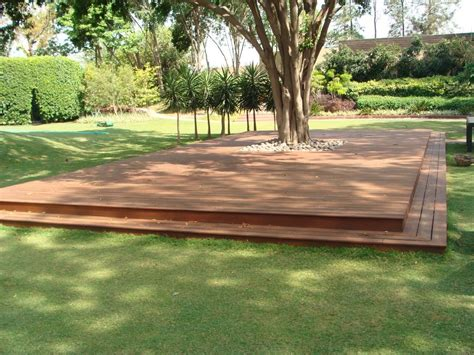 deck around tree landscape traditional with wood outdoor