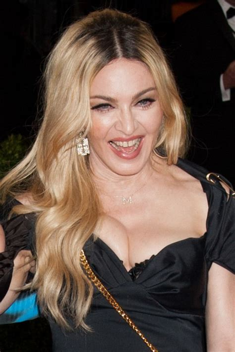 Madonna Hairstyles by Madonna Wavy Honey Roots Hairstyle