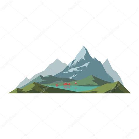clipart vettoriali illustrazione vettoriale di montagna isolato vettoriali