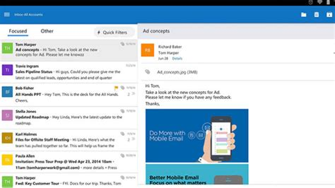 Office 365 Portal Android Microsoft Lance Une Application Outlook Pour Ios Et Android