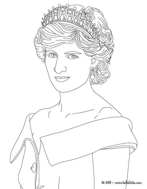 Princess Diana Coloring Pages princess diana of wales coloring pages hellokids