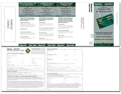 printable job application for wegmans wegmans shoppers club card application brochure on behance