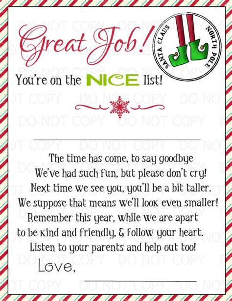 free printable elf on the shelf goodbye poem 2356 best christmas ideas for school images on pinterest