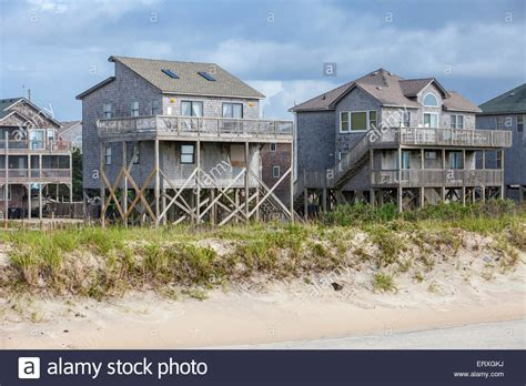 houses in frisco carolina frisco outer banks carolina side homes on stilts to stock photo royalty free