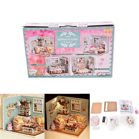 doll houses com handmade wooden dolls house toys with furnitures assembling diy miniature model kit