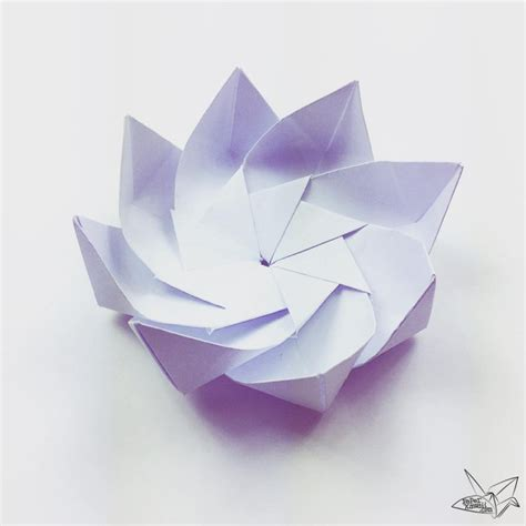 Lotus With Paper - modular origami lotus flower with 8 petals tutorial