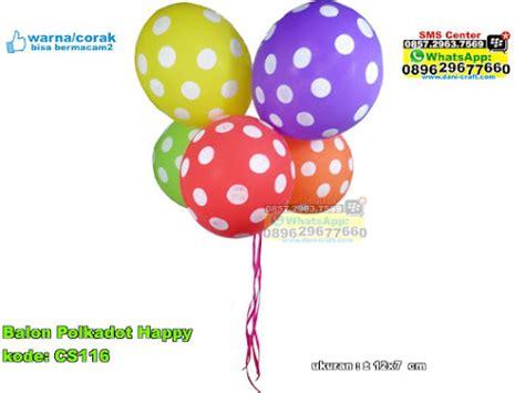 Balon Polkadot Bulat balon polkadot happy souvenir pernikahan