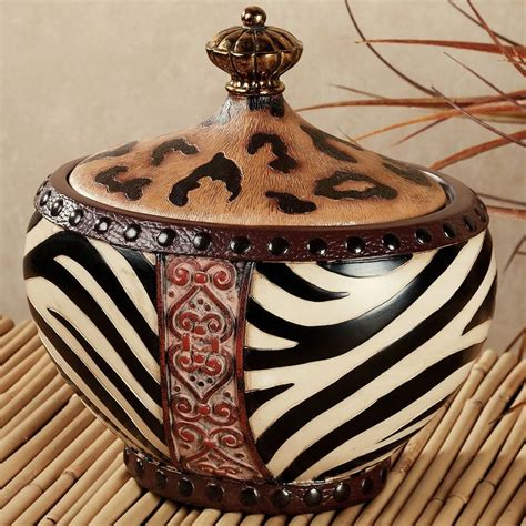 jar with african safari decor safari