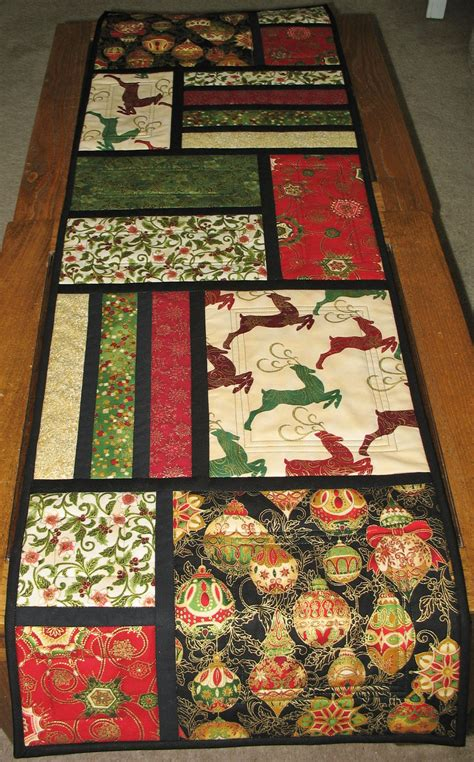 quilted table runners table runner quilted from kaufman flourish line