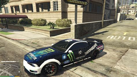 hoonigan mustang ford mustang monster hoonigan and ken block gta5 mods com