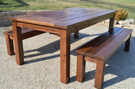 how to build a patio table remodelaholic build a patio table with built in boxes