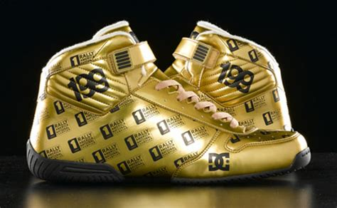 Dc Travis Pastrana Wood dc shoes gold pro spec 1s
