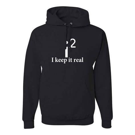 Hoodie Keep It Real Jidnie Clothing i keep it real math jokes school mens nerdy hoodies ebay