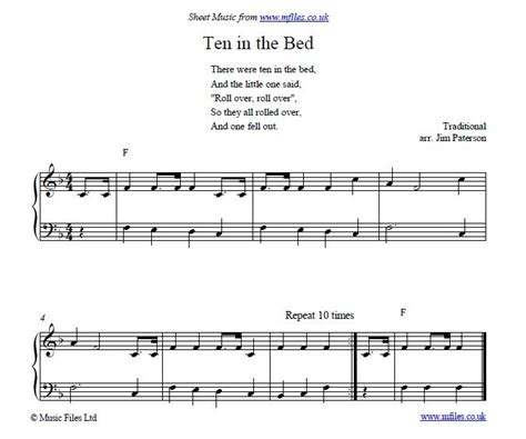 bed song ten in the bed children s counting song nursery rhyme