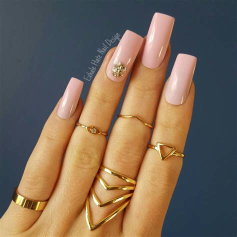amazing light light pink acrylic manicure www imgkid com the image