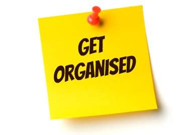 Get Organised by Get Organised The New Improved Me The Diary Of A