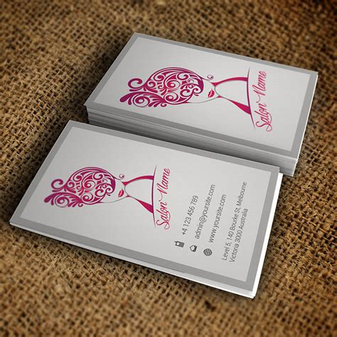 premium business card templates vertical salon business card premium business