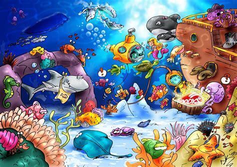 wallpaper underwater cartoon underwater by theoutcast1821 on deviantart