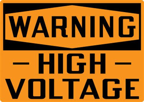 high voltage construction standards electrical safety sign warning high voltage