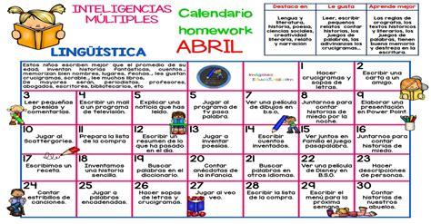Calendario 0ctubre 2017 Abril 2017 Calendario Homework Inteligencias M 218 Ltiples
