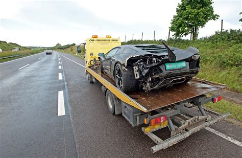 lamborghini veneno crash car crash lamborghini aventador wrecked in hungary gtspirit