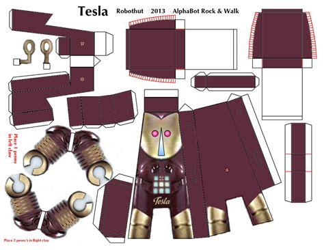Papercraft Robots - tesla paper craft r walking robot