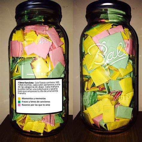 frascos decorados regalo frasco con 365 frases para cada d 237 a genial regalo para