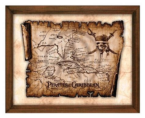 pirate decor for home pirates of the caribbean art captain jack sparrow map