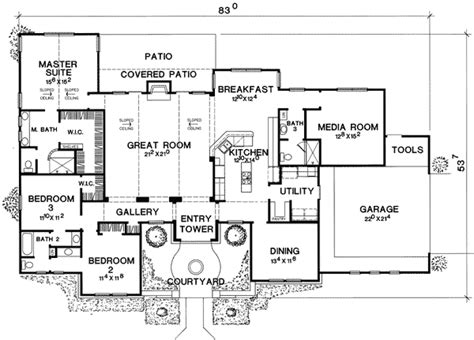 media room floor plans media room with guest room options 31129d 1st floor