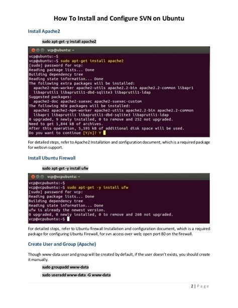 setup ubuntu svn server install and configure svn server subversion