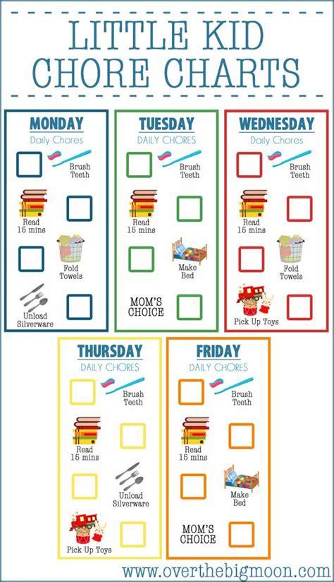 25 unique printable chore chart ideas on pinterest