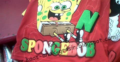 Stelan Anak Polo Lengan Pendek Garis 5 Warna Celana Tanggung Hitam kaos anak grosir ka g kaos stelan spongebob