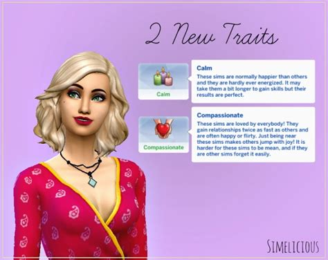 traits  simelicious sims  updates