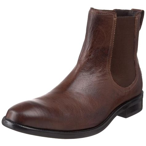 cole haan air lenox chelsea boots in brown for