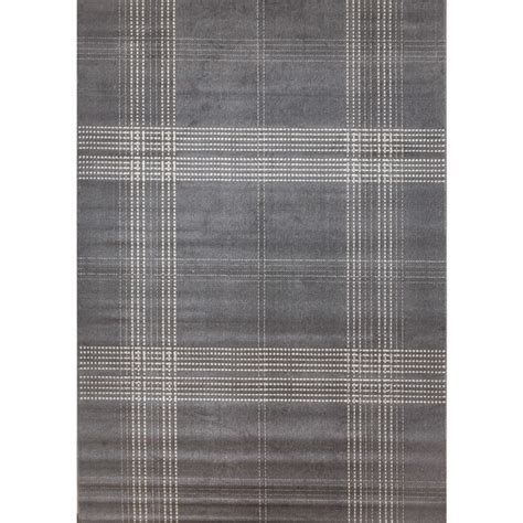 grey tartan rug colby plaid grey area rug by greyson living 7 9 x 10 6 free shipping today overstock