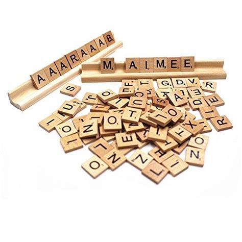 where can i buy wooden scrabble tiles 500 scrabble tiles wood pieces 5 pcs wooden rack holder