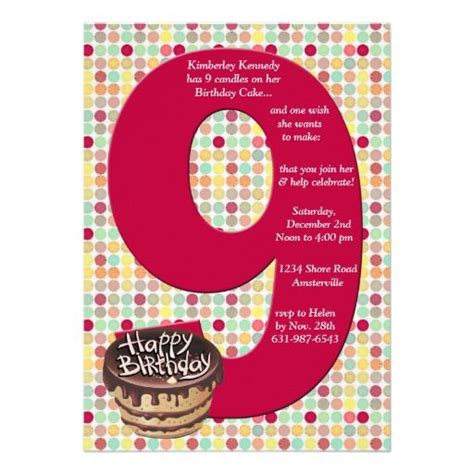 9th birthday card template 17 best images about 9th birthday invitations on