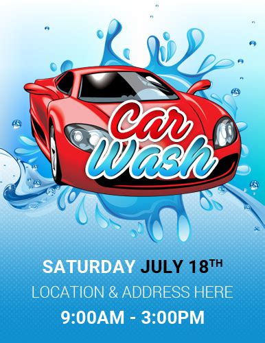 Car Wash Flyer Template by Ms Word Car Show Flyer Template Word Excel Templates