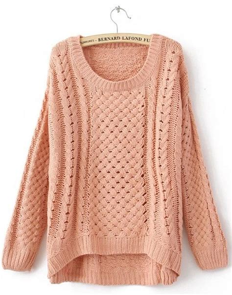 Sweater Pink List pink neck sleeve hollow sweater wish list