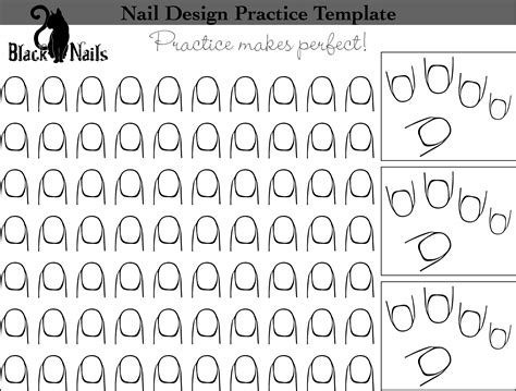 nail art design practice templates or sheets all