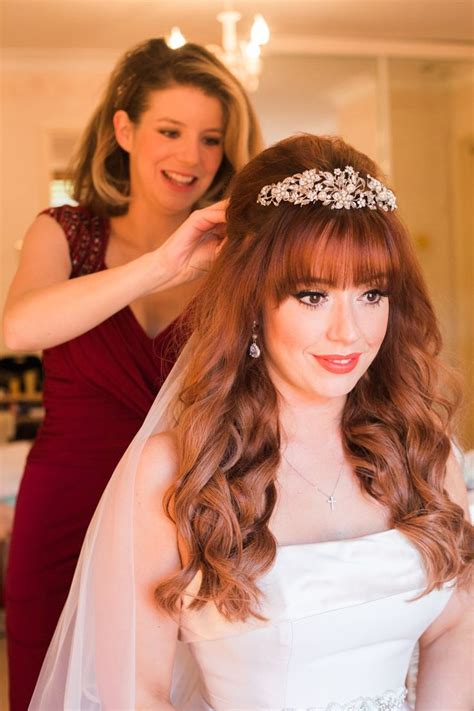 Wedding Hairstyles For Hair With Fringe by 25 Best Ideas About Tiara Hairstyles On